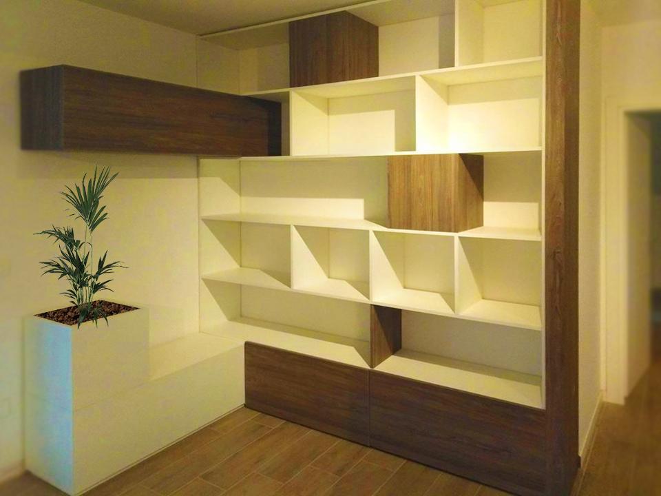 Libreria di Design in Legno Laminato